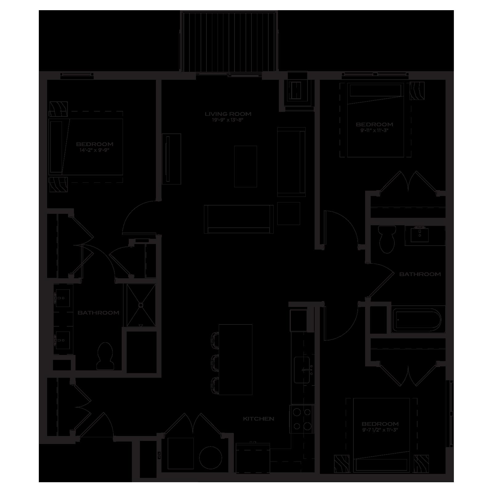 The Marke Floor Plan C1